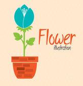 Design fleur — Vecteur