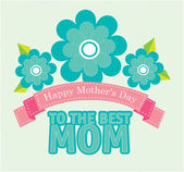 Mothers day design — Stock Vector