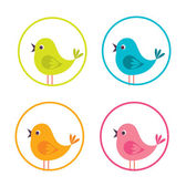 Birdie design — Vector de stock