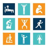 Fitness design — Vecteur