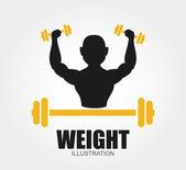Weights design — Vettoriale Stock