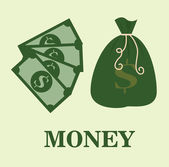 Saving money design — Stock Vector