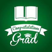 Graduation design — Stockvektor