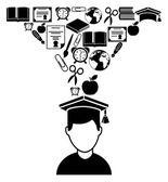 Graduation design — Stockvector
