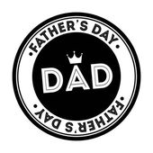 Fathers day — Vecteur