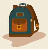 Haversack design — Stock Vector