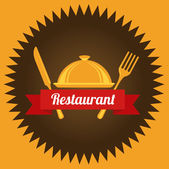 Restaurant design — Stock Vector