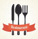Restaurant design — Stock Vector