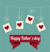 Fathers day design — Vettoriale Stock