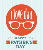 Fathers day design — Stockvektor