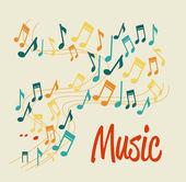 Projekt muzyka — Wektor stockowy