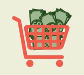 Geld ontwerp — Stockvector