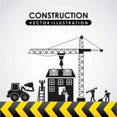Construction design — Stock Vector