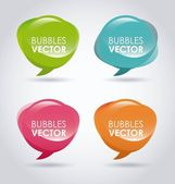 Bubbles design — Stock Vector
