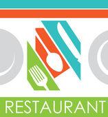 дизайн ресторана — Cтоковый вектор