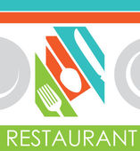 Conception de restaurant — Vecteur