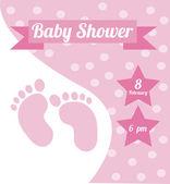 Diseño de la ducha del bebé — Vector de stock
