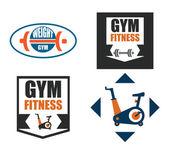 Projekt fitness — Wektor stockowy