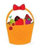 Basket fruits design — Stock Vector