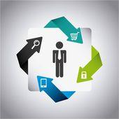 Business design — Stock Vector