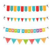 Diseño de feliz cumpleaños — Vector de stock