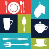 Mutfak tasarımı — Stok Vektör