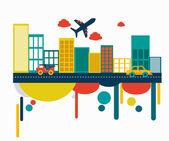 City design — Stock Vector