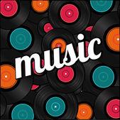 музыкальный дизайн — Cтоковый вектор