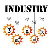 Projeto de indústria — Vetor de Stock