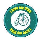 велосипед дизайн — Cтоковый вектор
