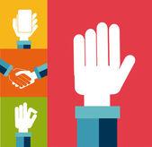 Hands design — Stock Vector