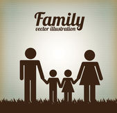 Family design — Stockvektor
