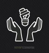 Lamp ontwerp — Stockvector