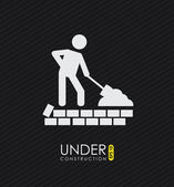 Onder bouwwijze — Stockvector