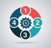 Zahlen-design — Stockvektor
