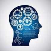 технология дизайн — Cтоковый вектор