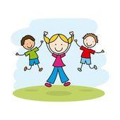 дети дизайн — Cтоковый вектор
