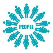 People design — Stock Vector