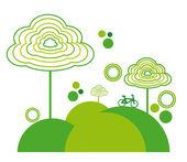 Ökologie design — Stockvektor