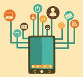Sosyal Medya tasarım — Stok Vektör