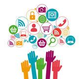 Design dei media sociali — Vettoriale Stock
