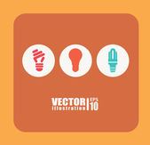 Bulb design — Stock Vector