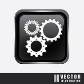 Gears design — Stock Vector