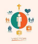 Human icon design — Stock Vector