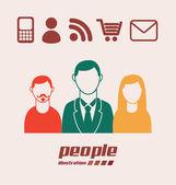 Sociala medier design — Stockvektor