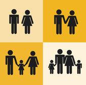 Rodinný design — Stock vektor