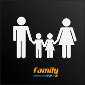 семейный дизайн — Cтоковый вектор