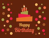 Progettazione di compleanno — Vettoriale Stock