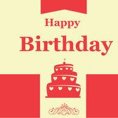 день рождения дизайн — Cтоковый вектор