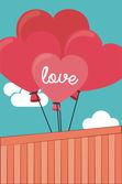 Diseño de love — Vector de stock